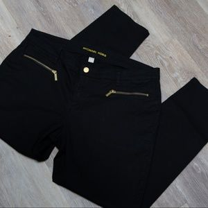 MIchael Kors Zip Pocket Black Skinny Jeans size 14